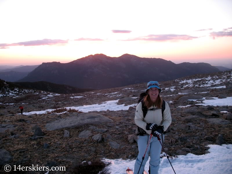 Sunrise on Long's Peak.