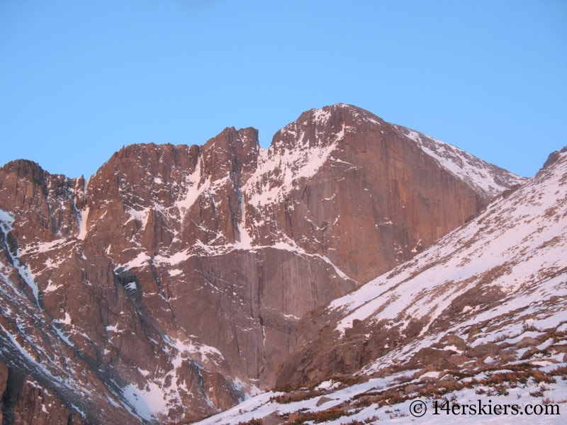 Diamond Face in spring on Longs Peak.