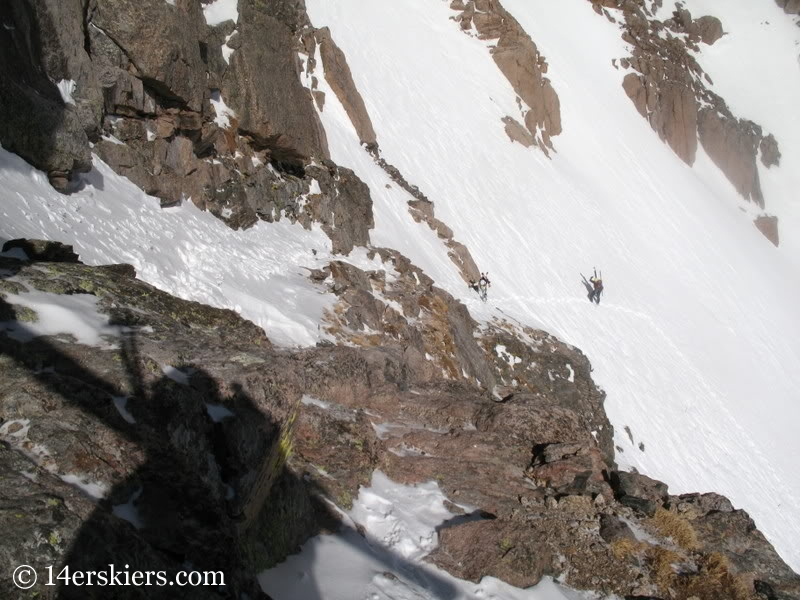 Climbing Long's Peak to ski Keplinger's Couloir