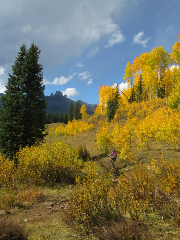 Lowline Trail - Favorite fall mountain bike rides near Crested Butte.