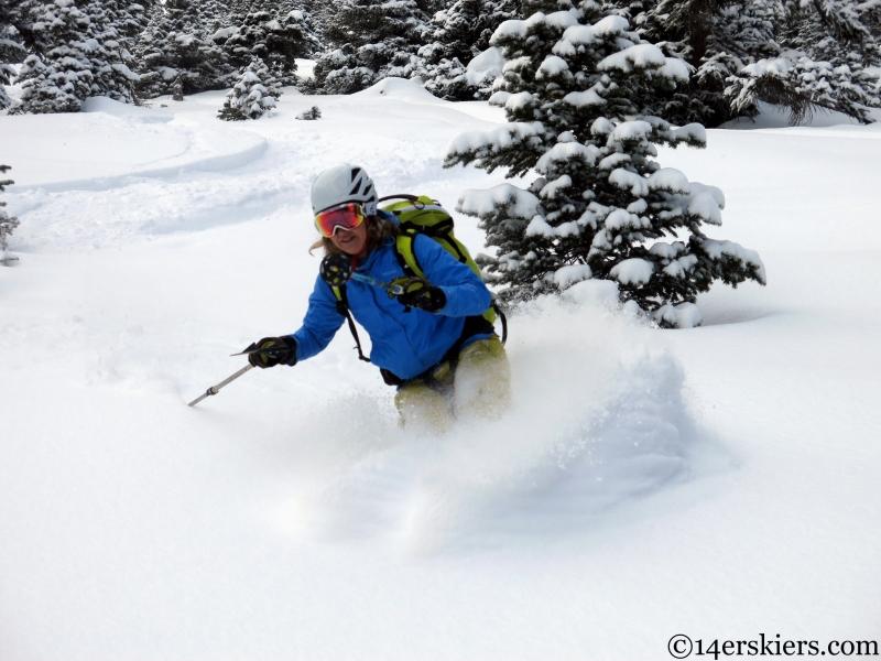 Natalie Moran backcountry skiing Marble