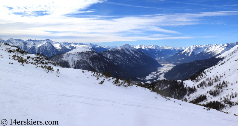 View from Marienberg ski area, Tirol, Austria.