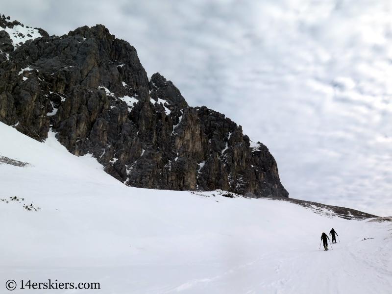 Ski tour from Marienberg ski area, Tirol Austria.
