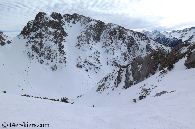 Backcountry ski tour near Marienberg ski area, Tirol, Austria