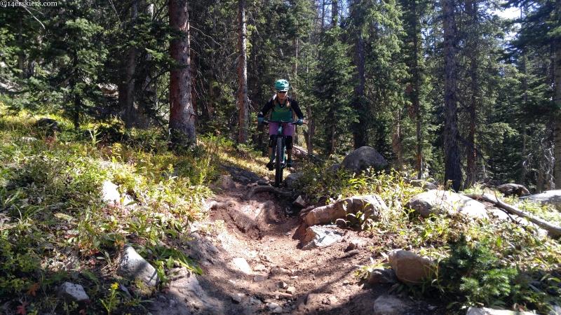 mountain biking rock garden