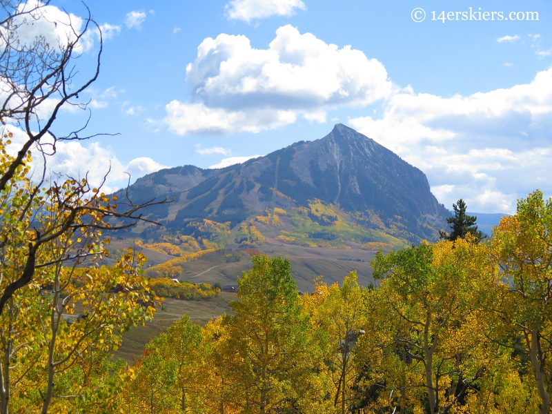 mount Crested Butte seen from Long Lake hike