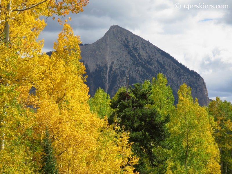 Mount Crested Butte seen from Long Lake road