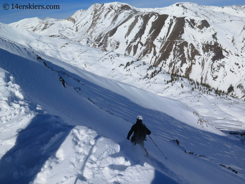Mike Nolan backcountry skiing in Crested Butte.