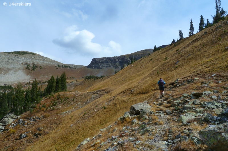Hiking the Ruby Range traverse near Crested Butte, CO.