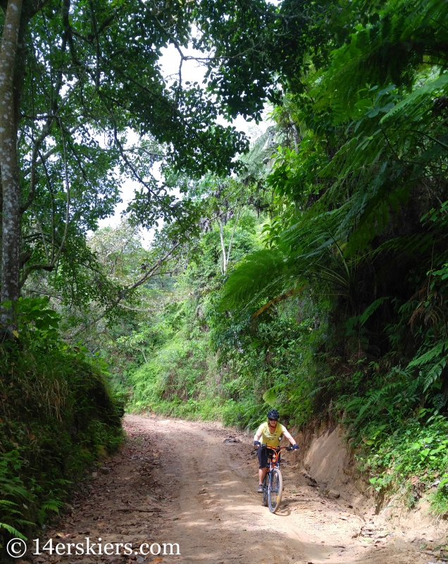 Mountain biking in Mica, Colombia.