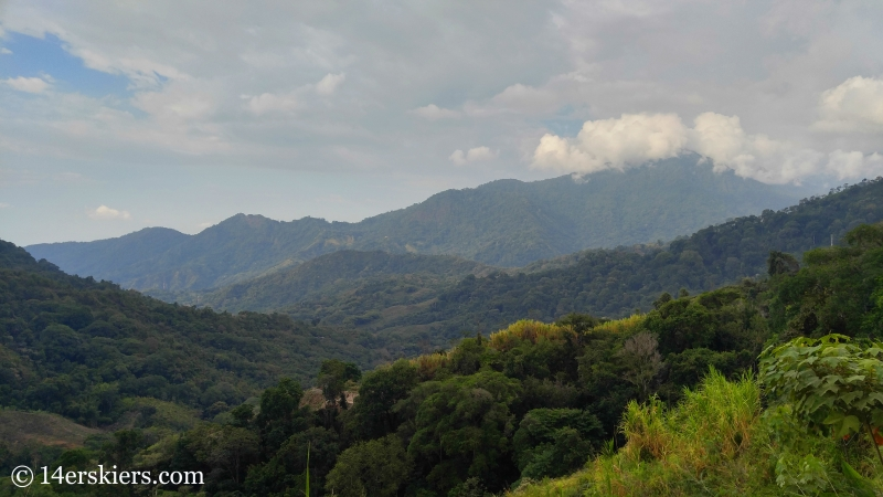 Views from Casa Elemento, near Minca, Colombia.
