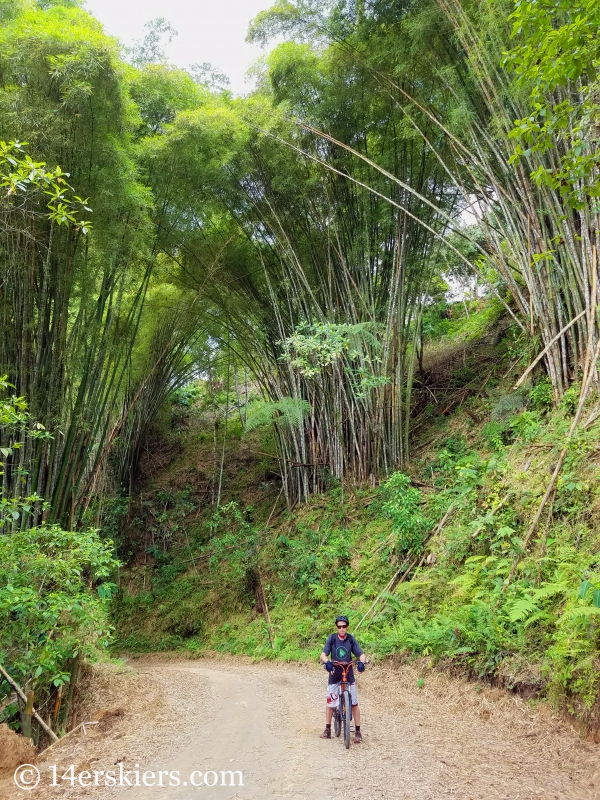 Mountain biking in Minca, Colombia.