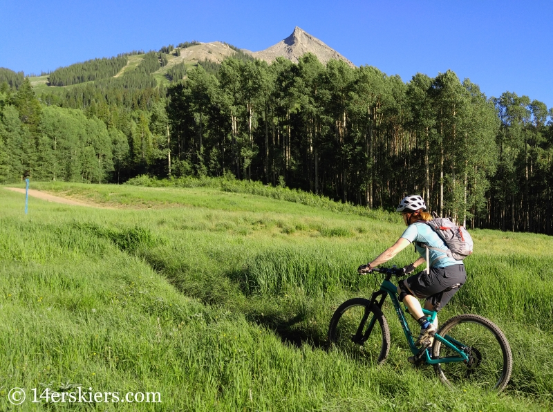 Brittany Konsella mountain biking Up, Up and Away in Crested Butte, CO.