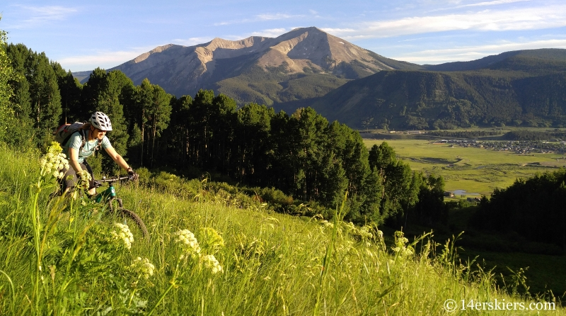 Brittany Konsella mountain biking West Side trail in Crested Butte, CO.