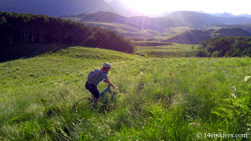 Brittany Konsella enjoying an evening ride on West Side trail on Mount Crested Butte.