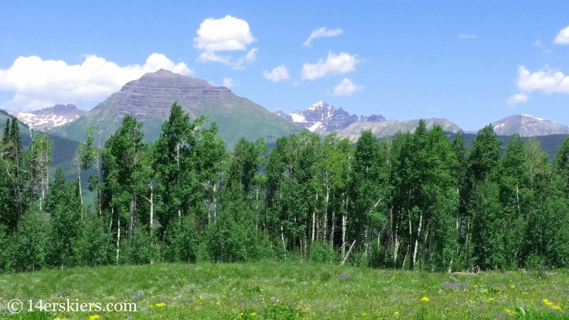 Fabulous views from of Teocalli and Castle Peak from atop of Strand Hill in Crested Butte, CO.
