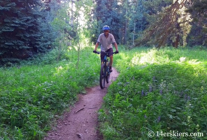 Frank Konsella mountain biking on Painter Boy in Crested Butte, CO.
