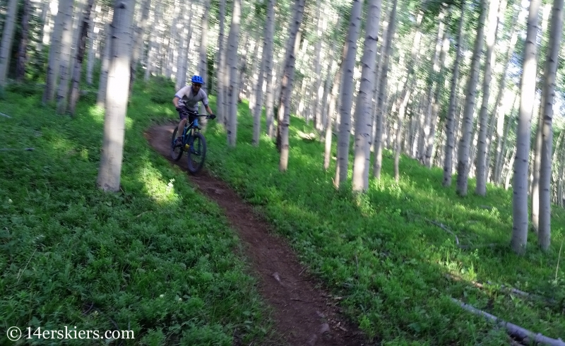 Frank Konsella mountain biking West Side trail in Crested Butte, CO.