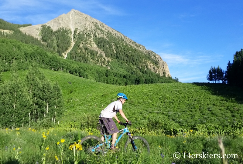 Frank Konsella mountain biking the West Side Trail in Crested Butte, CO.