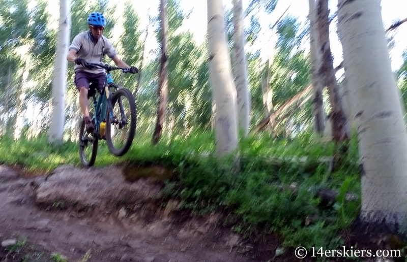 Frank Konsella mountain biking Happy Hour trail in Crested Butte, CO.