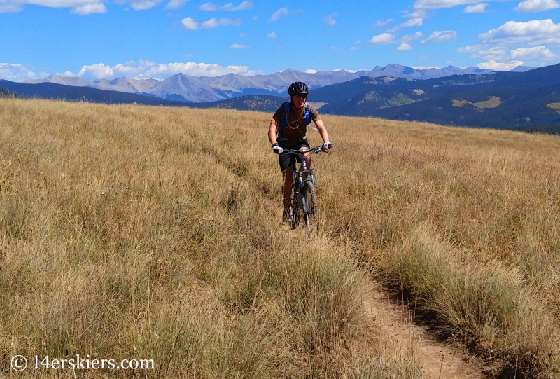 Mountain Biking Julie Andrews near Crested Butte