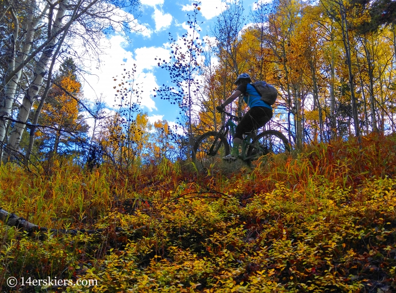 Brittany Konsella mountain biking Waterfall Cutoff near Crested Butte.