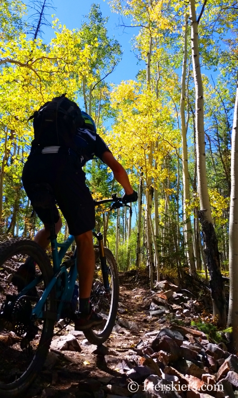 Frank Konsella mountain biking 409 near Crested Butte.