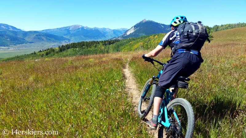Frank Konsella mountain biking Point Lookout Trail near Crested Butte.