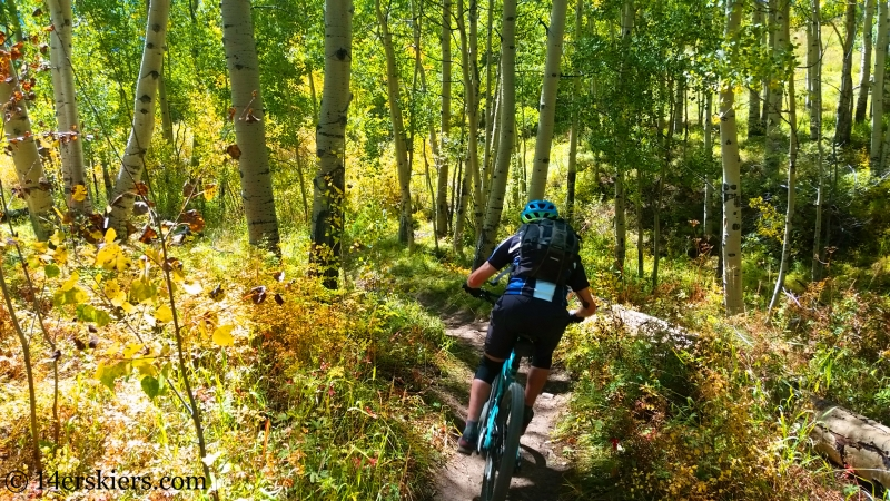Frank Konsella mountain biking 409 in Crested Butte
