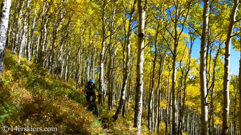 Fall mountain biking in Crested Butte