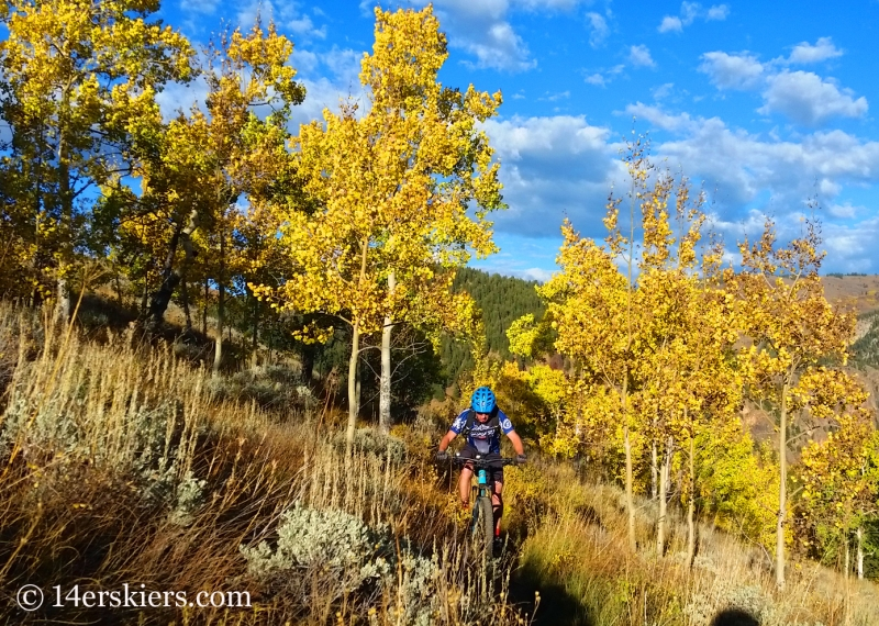 Frank Konsella mountain biking Caves Trail near Crested Butte.