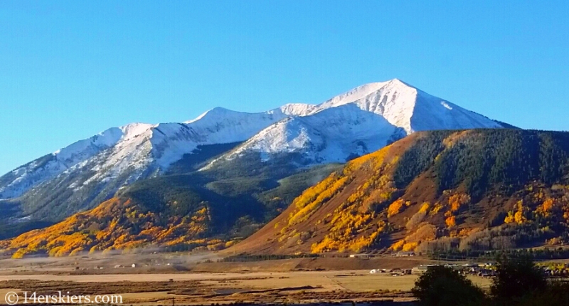 Whetstone in Crested Butte in fall