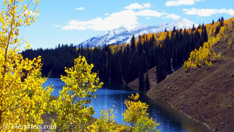 Fall colors on Meridian Lake or Long Lake in Crested Butte