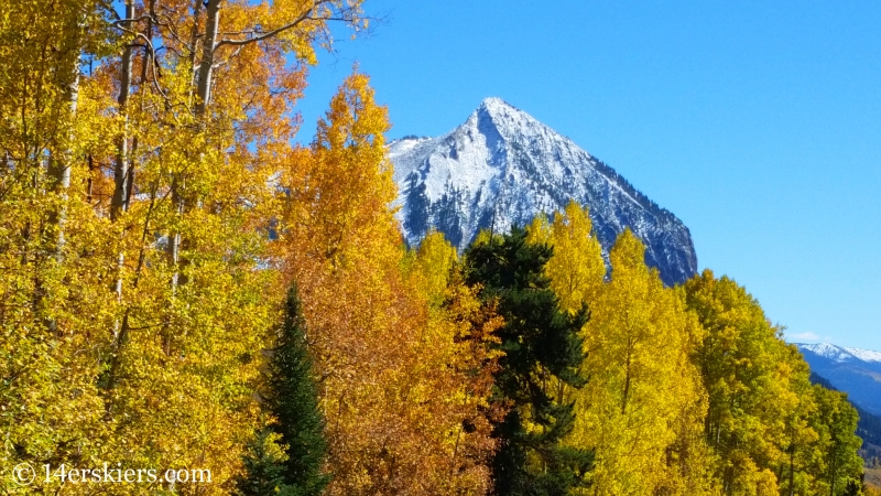 fall colors with Crested Butte peak.
