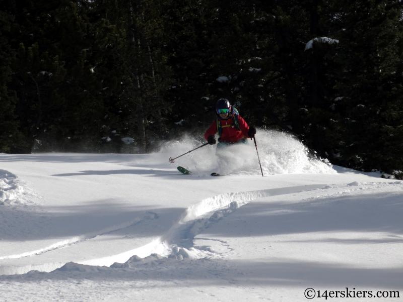 Brittany Konsella Monarch skiing
