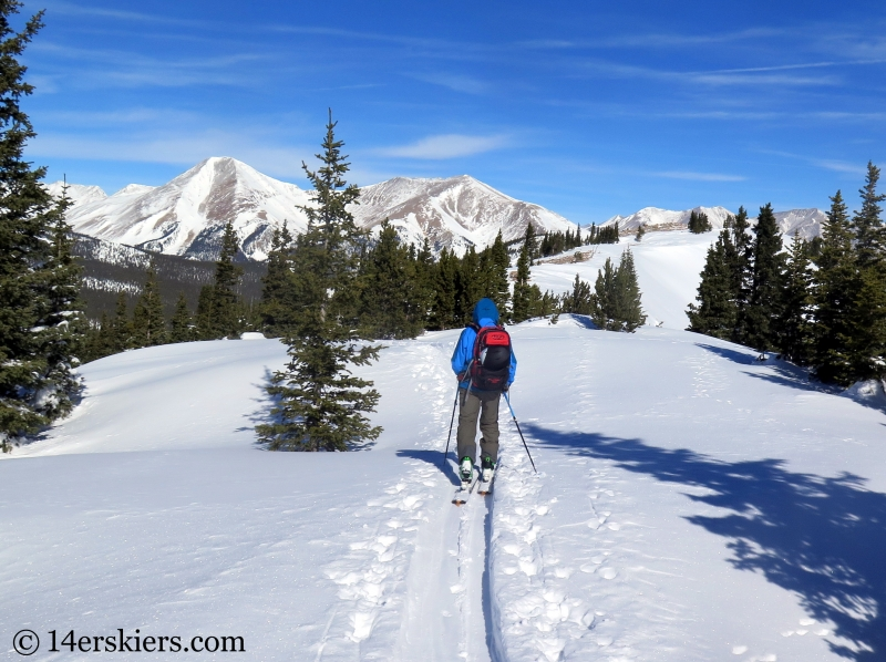 Monarch Pass backcountry skiing and Mount Aetna