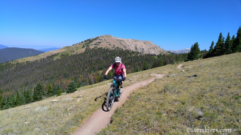 Brittany Konsella mountain biking Monarch Crest Trail