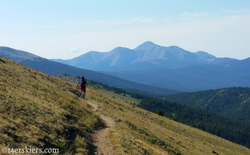 Larry Fontaine mountain biking Monarch Crest Trail