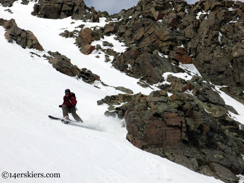 Cory Thibidoux skiing Mt Ouray