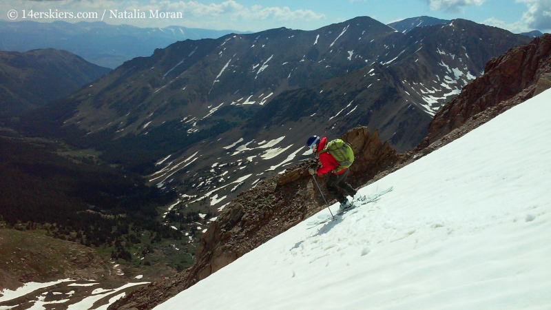 Brittany Konsella backcountry skiing on Mount Champion.