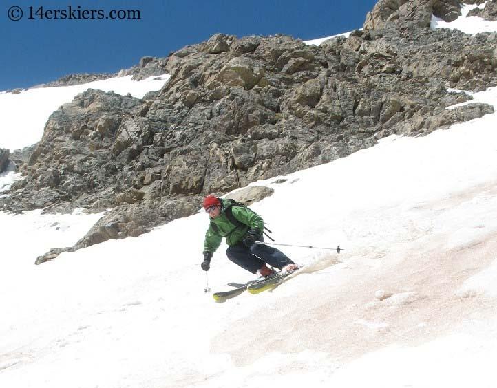 Frank Konsella skiing on Mount Elbert