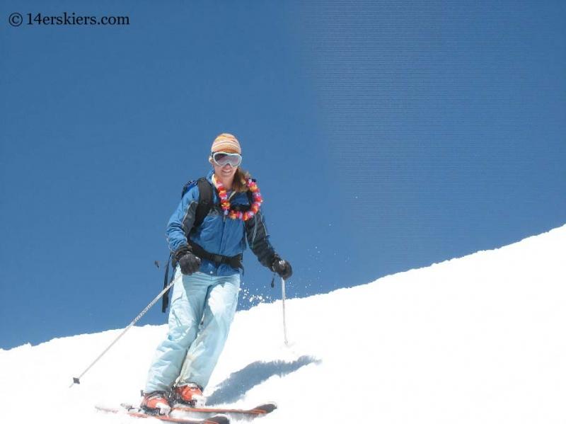 Brittany Konsella skiing Mount Elbert