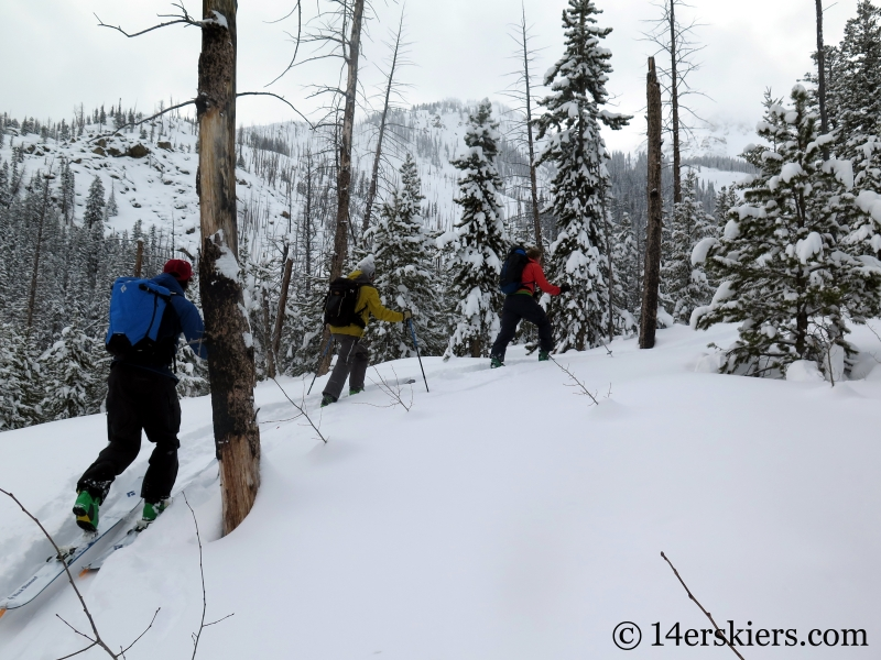 Backcountry skiing Mount Shimer near Aspen.