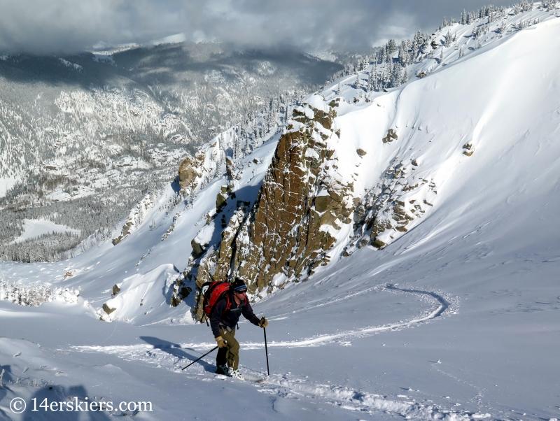 Frank Konsella skinning up Mount Shimer near Aspen.