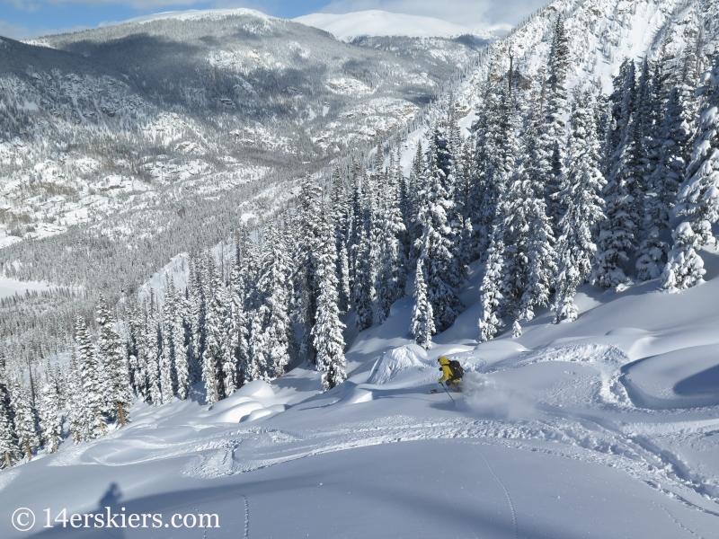 Nate backcountry skiing on Mount Shimer near Aspen.