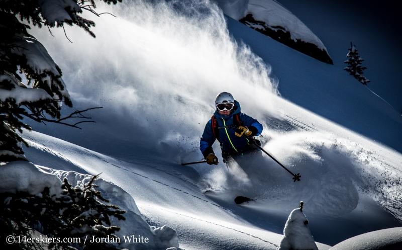 Frank Konsella backcountry skiing on Mount Shimer near Aspen.
