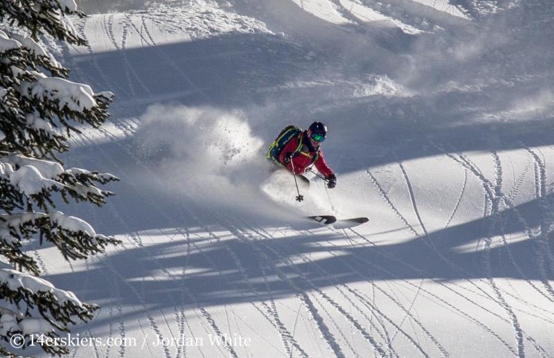 Brittany Konsella backcountry skiing Mount Shimer near Aspen.