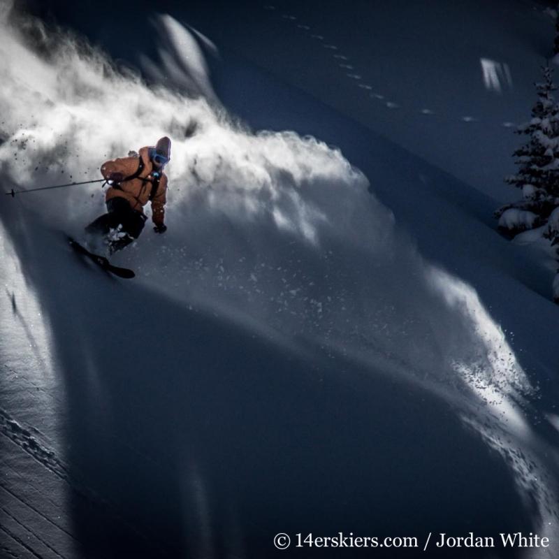 Sam Coffey backcountry skiing Mount Shimer near Aspen