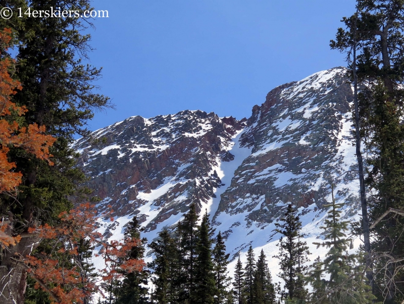 Naked Lady couloir in the San Juans
