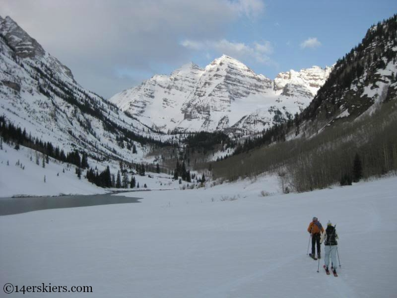 Skiing the Maroon Bells in April